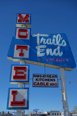 Photograph - Trail's End Motel by Matthew Bamberg