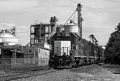 Photograph - Train @ Adm In Kershaw 21 B W 1 by Joseph C Hinson Photography