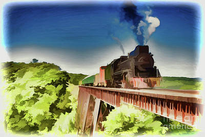 Painting - Train A18-100 by Ray Shrewsberry