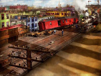 Photograph - Train - Accident - The Old Switcheroo 1909 by Mike Savad