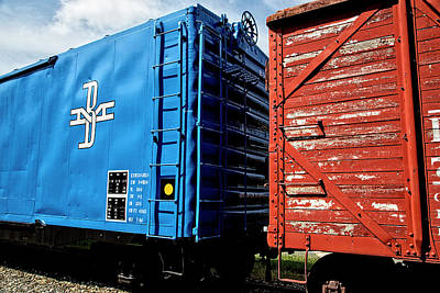 Photograph - Train Cars by Karol Livote