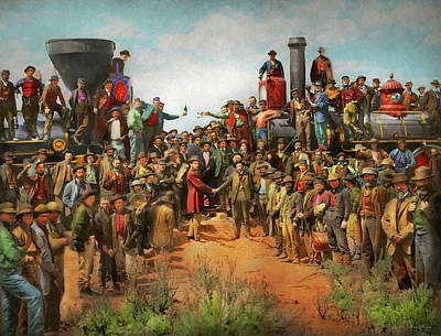 Photograph - Train - Civil - The Champagne Photo 1869 by Mike Savad