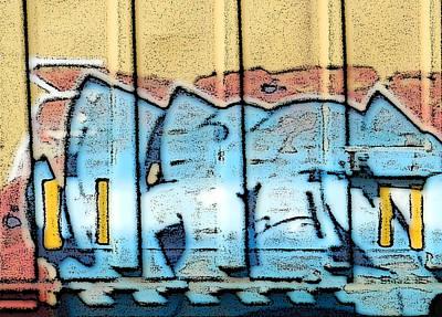 Photograph - Train Graffiti 5 by Sarajane Helm