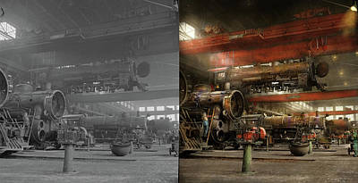 Photograph - Train - Repair - Danger From Above 1943 - Side By Side by Mike Savad