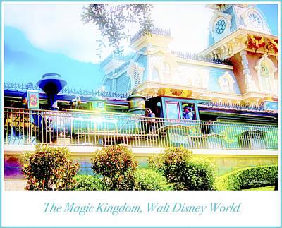 Photograph - Train Station, Main Street U.s.a., Walt Disney World by A Gurmankin