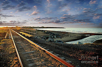Photograph - Train Tracks By The Ocean by Elaine Manley