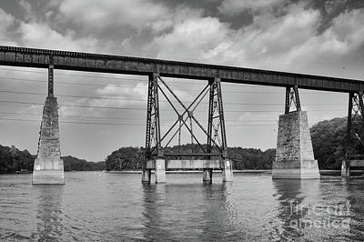 Photograph - Train Trestle Over Lake Hartwell by Dale Powell