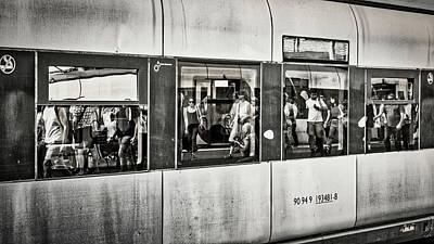 Photograph - Train Window Reflections - Portugal by Stuart Litoff