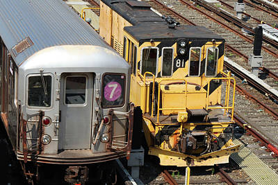Photograph - Train Yard Buddies by Cate Franklyn