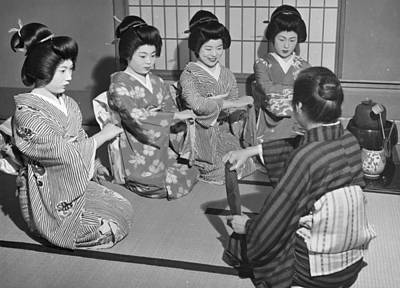 Photograph - Training Geishas by Central Press