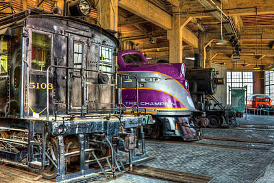 Photograph - Trains Steam And Diesel Locomotives by Dan Carmichael