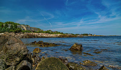 Royalty-Free and Rights-Managed Images - Tranquil Blues Day Kennebunkport by Betsy Knapp