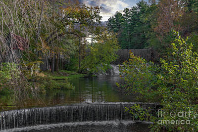 Photograph - Tranquil Waterfall Sounds - Flat Rock North Carolina by Dale Powell