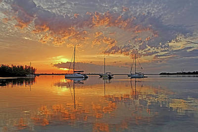 Photograph - Tranquility Bay - Florida Sunrise by HH Photography of Florida