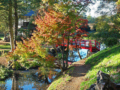 Photograph - Tranquility - Japanese Garden In Autumn by Gill Billington
