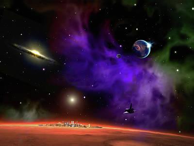 Digital Art - Trans-planet Flight 101 by Don White Artdreamer