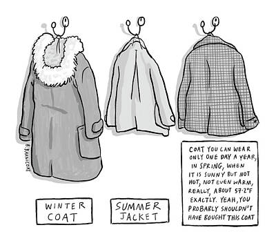 Drawing - Trans-seasonal Coat by Becky Barnicoat