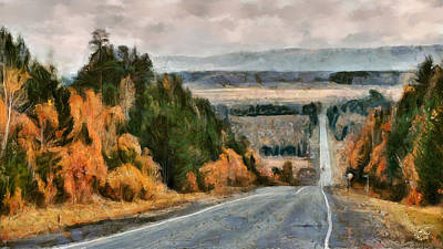 Digital Art - Trans-siberian Highway by Andreas Theis