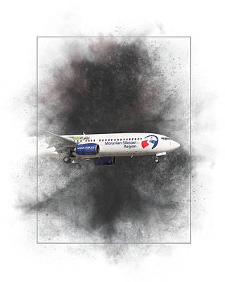 Mixed Media - Travel Service Boeing 737-8cx Painting by Smart Aviation