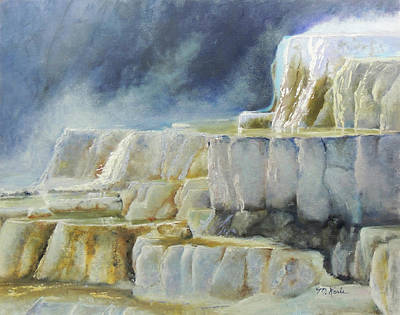 Painting - Travertine Terraces - Mammoth Hot Springs, Yellowstone National Park by Marsha Karle