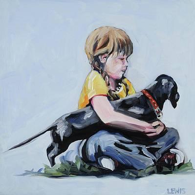 Painting - Treasured Dog by Anne Lewis