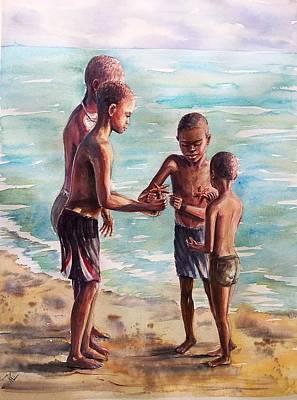 Painting - Treasures From The Sea by Katerina Kovatcheva