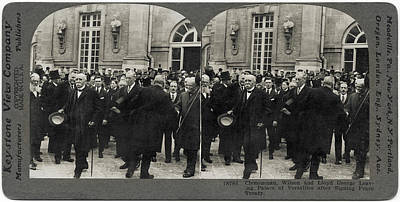 Photograph - Treaty Of Versailles by Hulton Archive