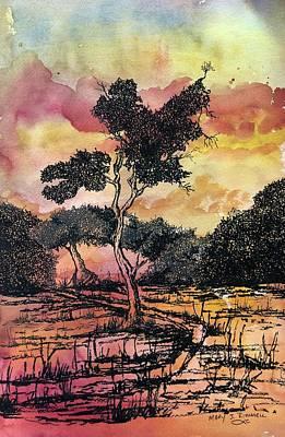 Mixed Media - Tree 2 0f 4 by Mary Rimmell