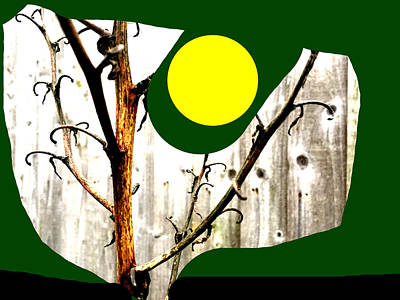 Mixed Media - Tree And Sun by Artist Dot