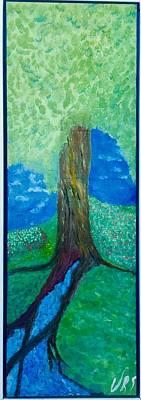 Painting - Tree Fountain by Walter Rivera Santos