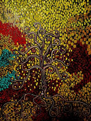 Painting - Tree In The Center Of Life by Stefan Duncan
