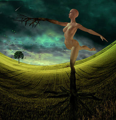 Surrealism Digital Art Rights Managed Images - Tree Nymph Royalty-Free Image by Bruce Rolff