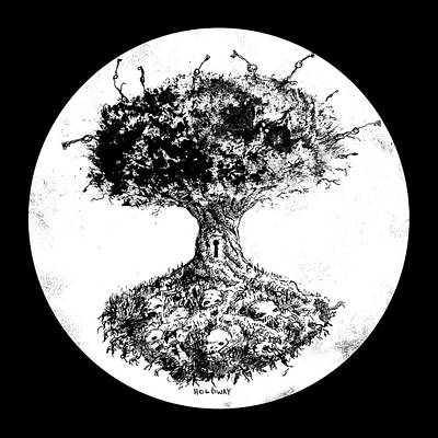 Drawing - Tree Of Knowledge by John Holdway