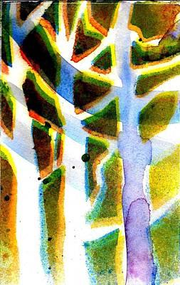 Painting - Tree Shapes II  by Jack Loeb