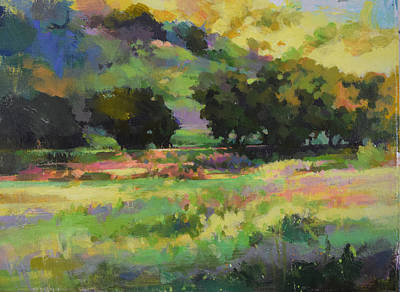 Painting - Trees And Field by Harvey Cusworth