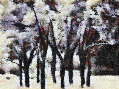 Painting - Trees In Winter by Elaine Manley