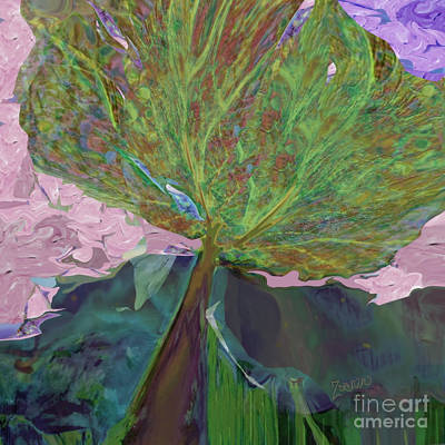 Mixed Media - Trees Of Different Colors  We All Drink Water, No. 2 by Zsanan Narrin