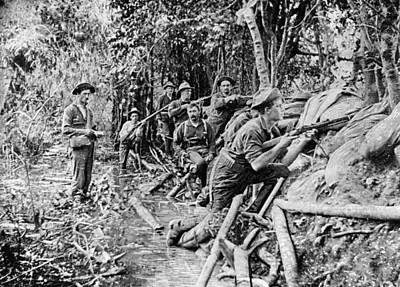 Trench Near Manila Art Print by Hulton Archive