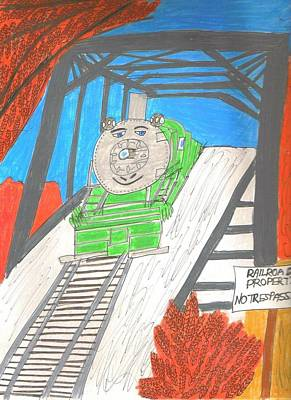 Drawing - Trestle by Barb Moran