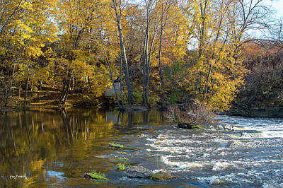 Photograph - Trestle Hamilton  Michigan During Autumn 3 by Ken Figurski