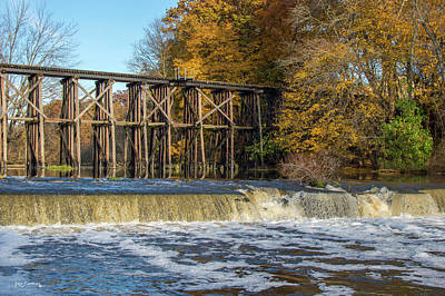 Photograph - Trestle Hamilton  Michigan During Autumn by Ken Figurski