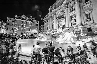 Photograph - Trevi Fountain In Rome by John McGraw