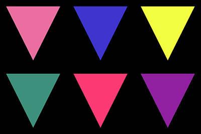 Digital Art - Triangle - Spring - On Black by REVAD David Riley