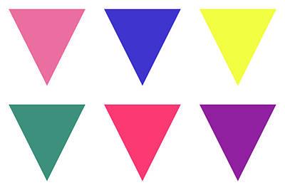 Digital Art - Triangular - Spring - On White by REVAD David Riley