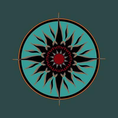 Digital Art - Tribal Sun by David Manlove