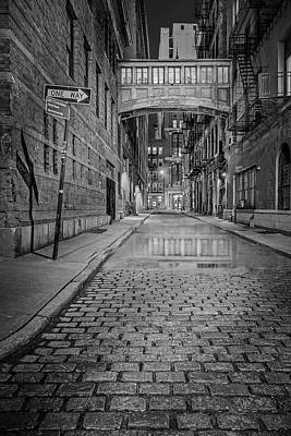 Photograph - Tribeca's Nyc Skybridge Bw by Susan Candelario