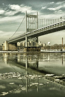 Photograph - Triboro In Sepia by Cate Franklyn
