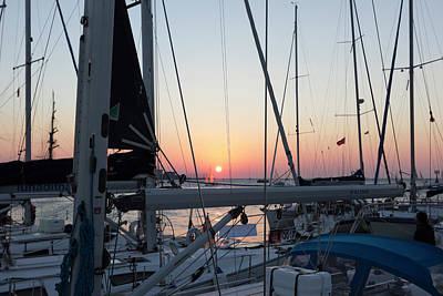 Photograph - Trieste Sunset by Helga Novelli