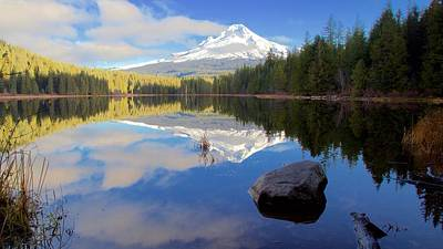 Photograph - Trillium Lake November Morning by Todd Kreuter