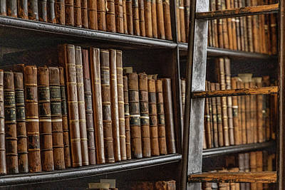 Photograph - Trinity College Library Books,  by John McGraw